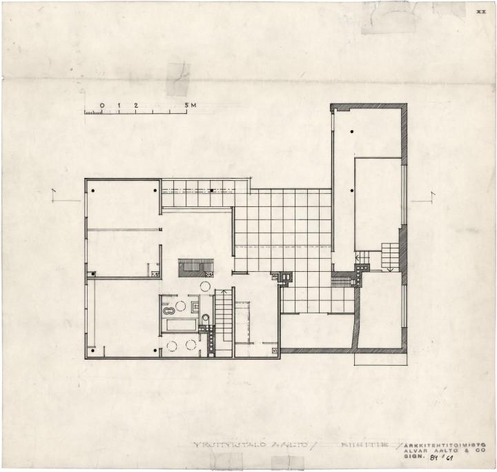 1st floor plan, The Aalto House