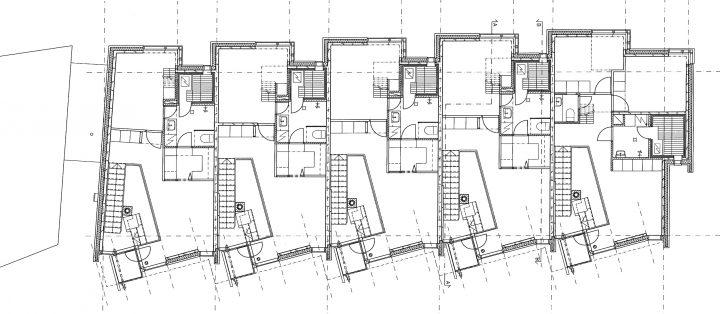 Upper floor, Runopuisto terraced house