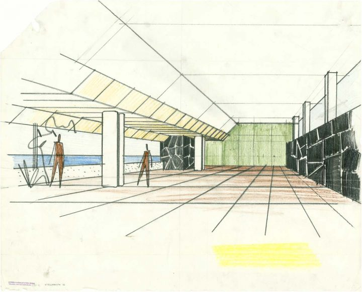 Perspective drawing, Hotel Palace