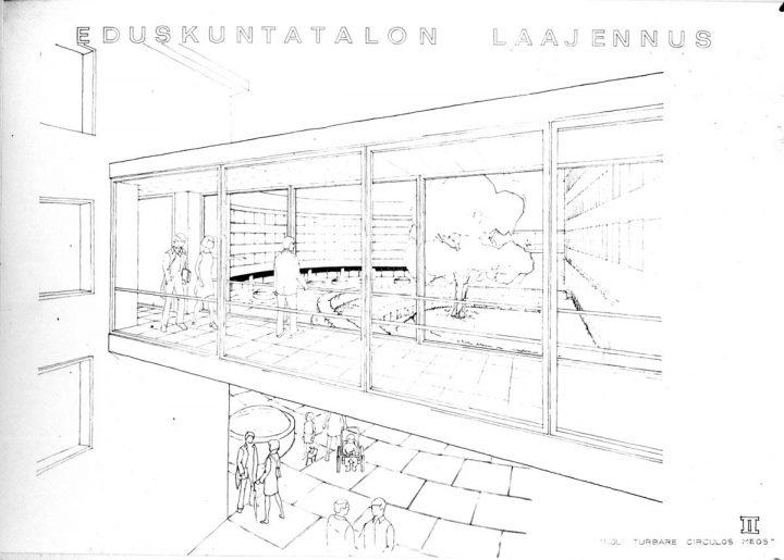 Viljo Heikki Castrén, Parliament House Extension competition entry