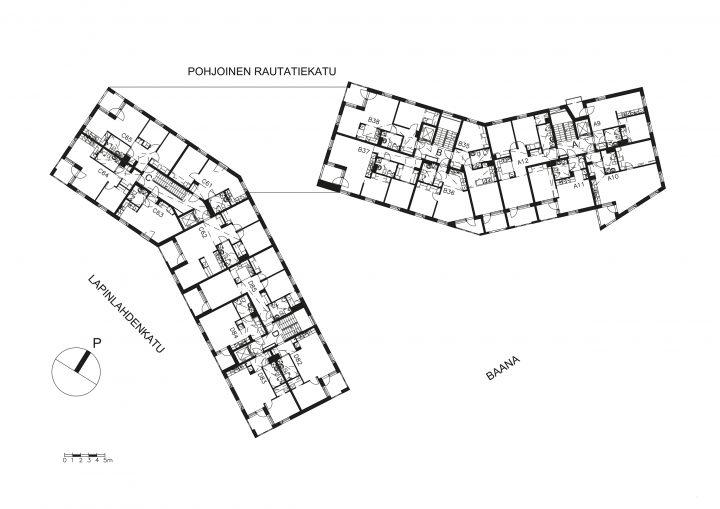 Typical floor, Kampin Helmi Senior Housing