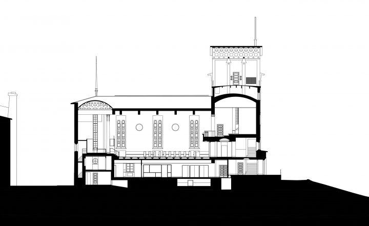 Section, Töölö Church