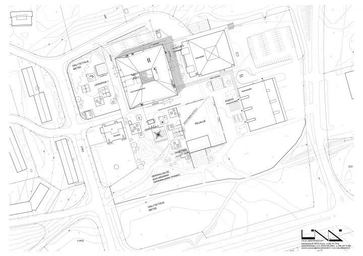 Site plan, Mansikkamäki School