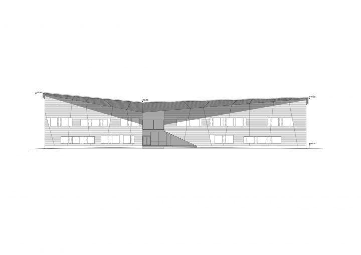 South elevation, Mansikkamäki School