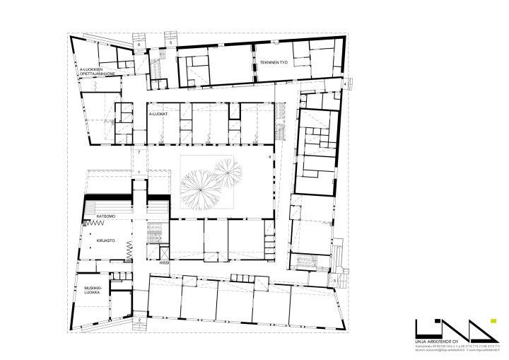 Ground floor, Mansikkamäki School