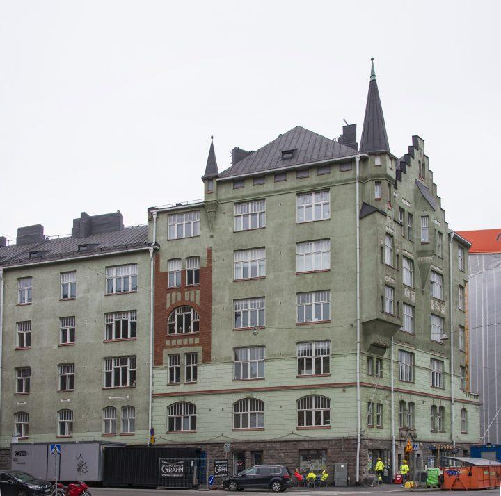 The street façace, Aeolus House