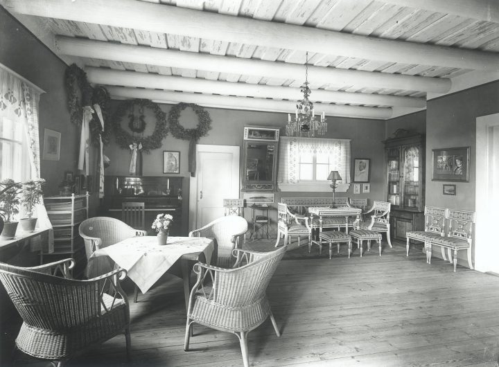 Interior in 1915, Aino and Jean Sibelius' Ainola