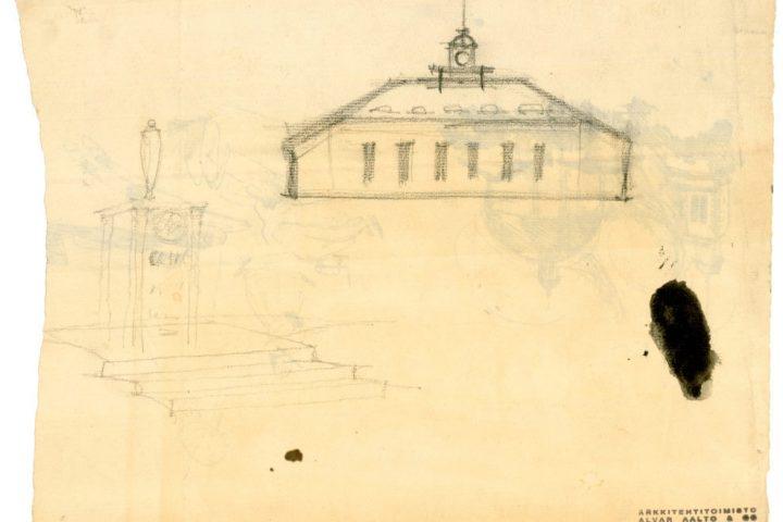 Original drawing by Alvar Aalto, Alajärvi Youth Association Building
