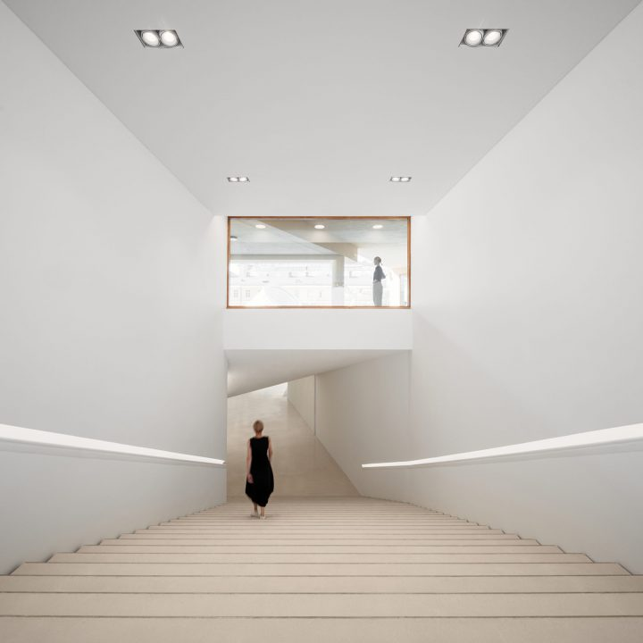 New staircase leading to the museum, Amos Rex and Lasipalatsi