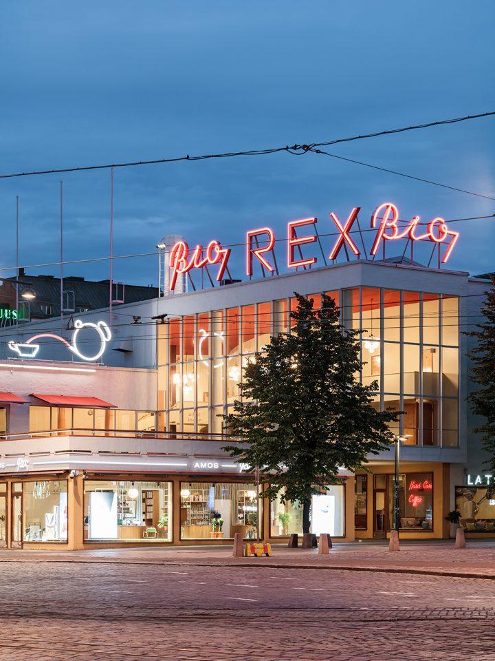 Bio Rex corner on Mannerheimintie street, Amos Rex and Lasipalatsi