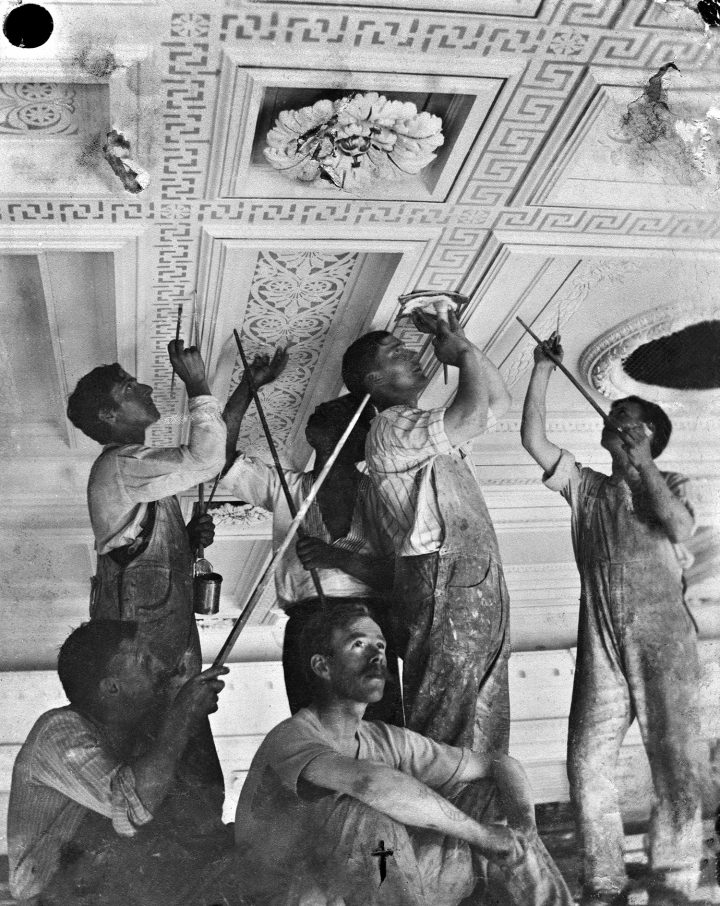 Salomo Wuorio's decoration painters in 1914, Museum of Finnish Architecture