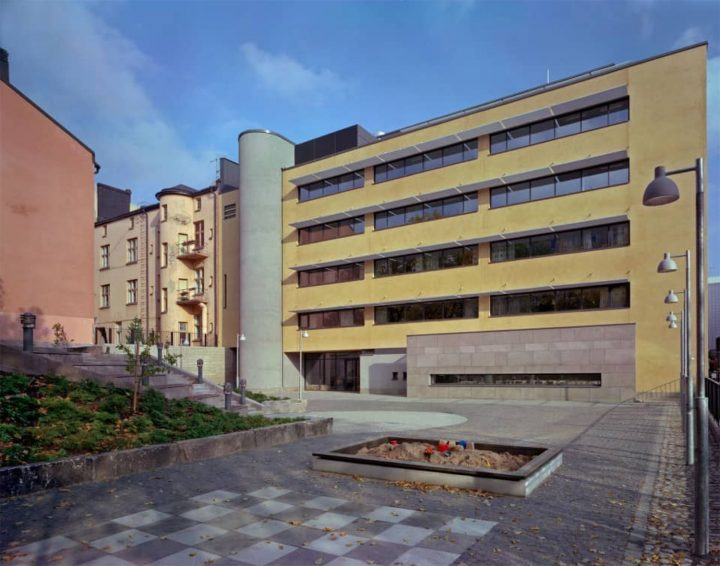 Courtyard view, Aurelia Parish Centre