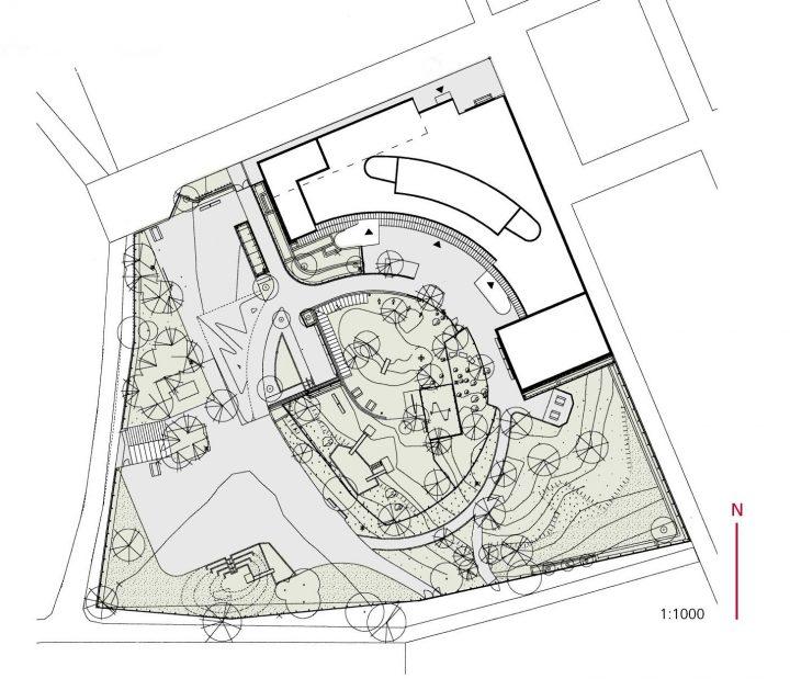 Site plan, Aurinkolahti School