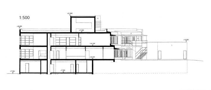 Section plan, Aurinkolahti School