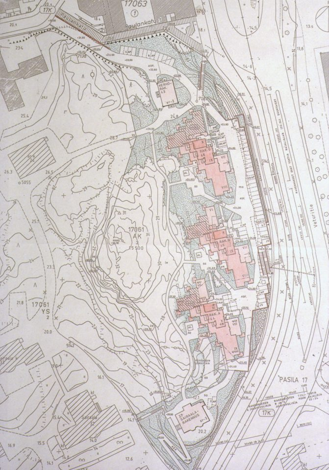 Site plan, Auroranlinna housing