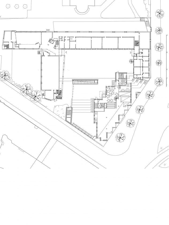 Courtyard level, Sandels Cultural Centre