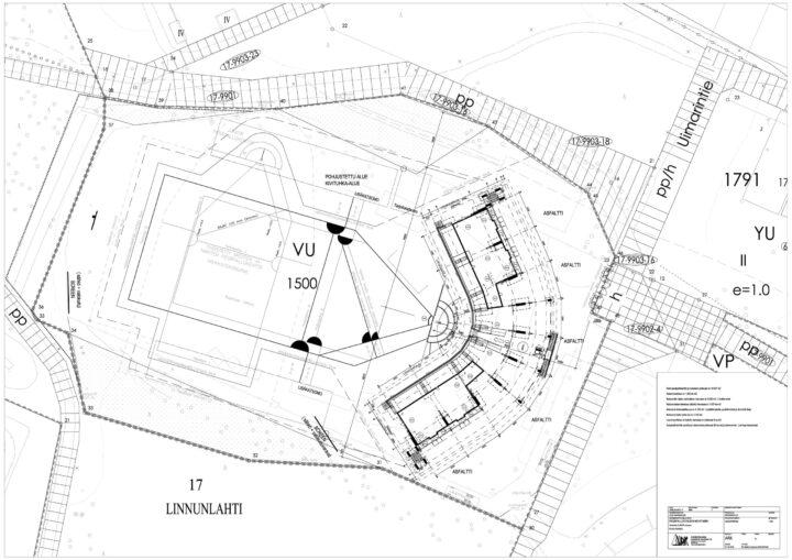 Site plan, Mehtimäki Multipurpose Stadium