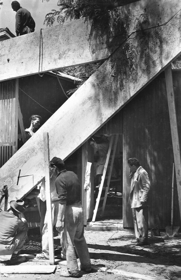 Construction site in 1956, Aalto Pavilion