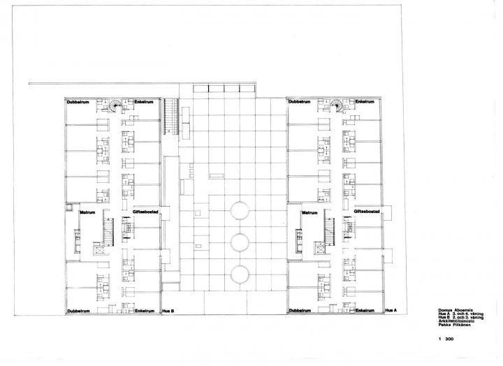 Floor plan, Domus Aboensis Student Union Dormitory