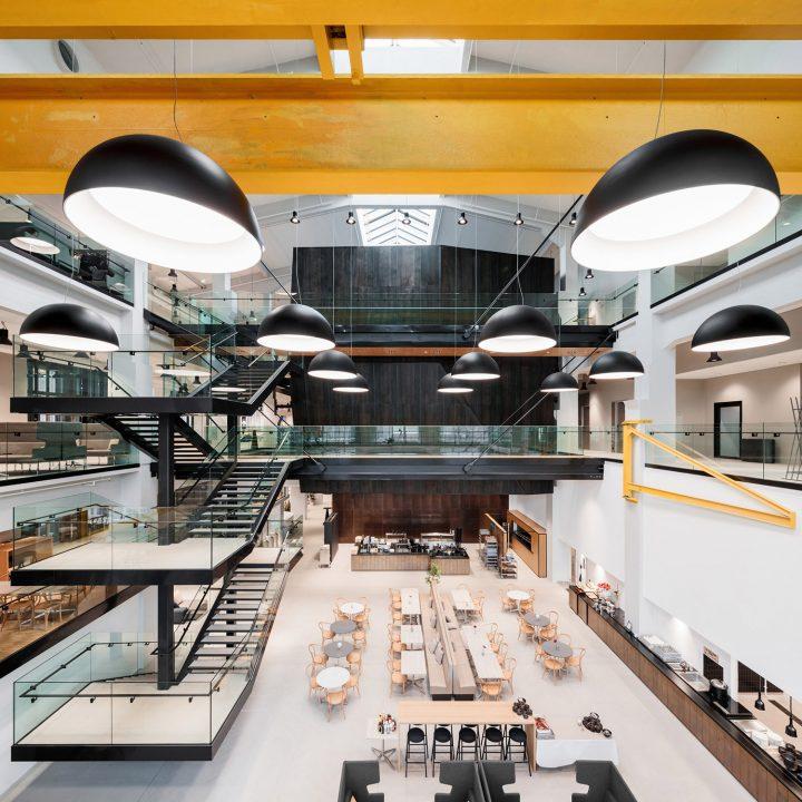 Floating 'Black Box' inside the machine workshop, European Chemical Agency ECHA