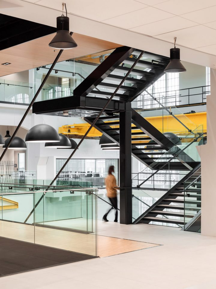 Staircase between the office floors, European Chemical Agency ECHA