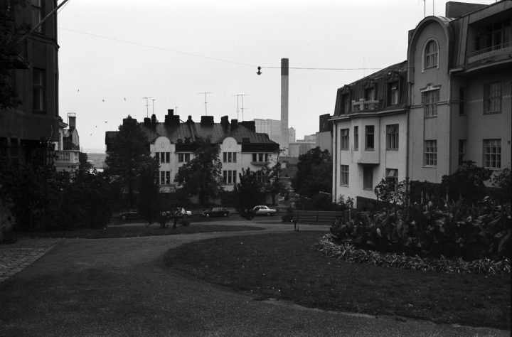 A view from the Engel Square to west, Eira Villa District