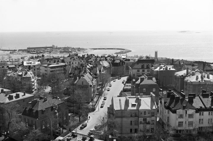 Aerial view from Agricola Church tower in 1972, Eira Villa District