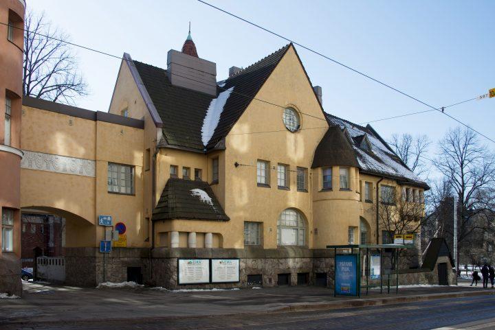 Tehtaankatu street façade, Eira Hospital