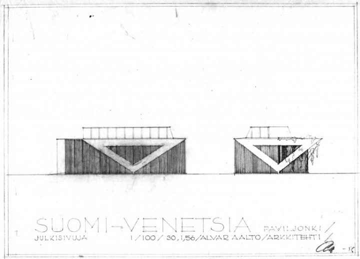 Elevation plan, Aalto Pavilion