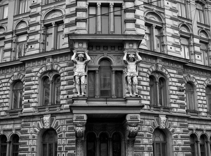 The main façade, Erottajankatu 2 Neo-Renaissance Building