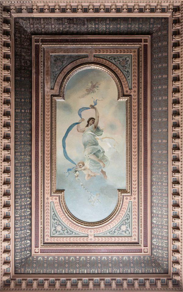 The ceiling painting, Erottajankatu 2 Neo-Renaissance Building