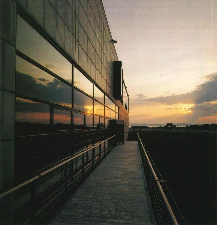 Entrance bridge, European Film College