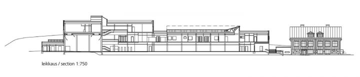 Section plan, Finno School and Daycare Centre