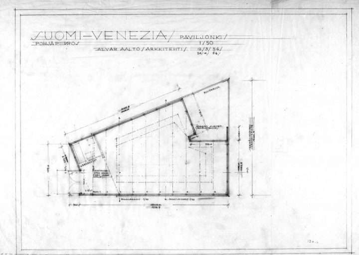Floor plan, Aalto Pavilion