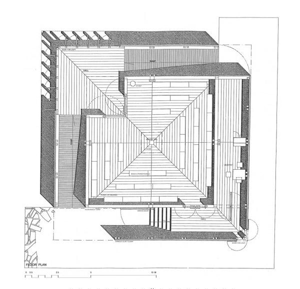 Floor plan, Kärsämäki Shingle Church
