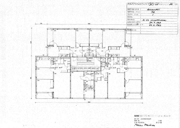 Floorplan of a tower-block, Suikkila Suburb