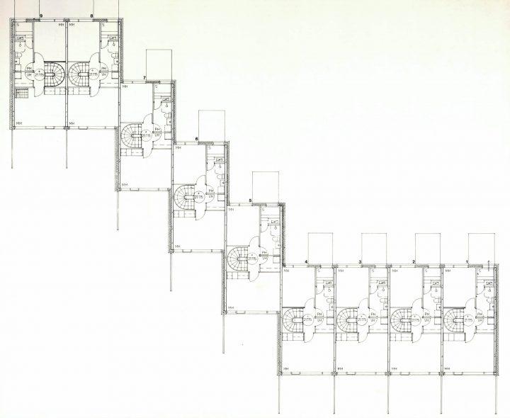 Floorplan of a rowhouse, Suikkila Suburb