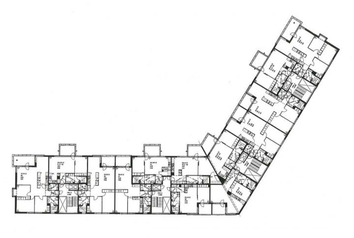 Example of a floor plan, Fokka and Spinnu Housing