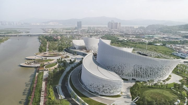 Aerial view, Fuzhou Strait Culture and Art Centre