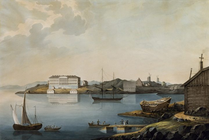 View from the north, Merikasarmi Naval Barracks