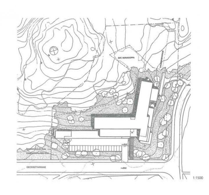 Site plan, Finnish Geospatial Research Institute
