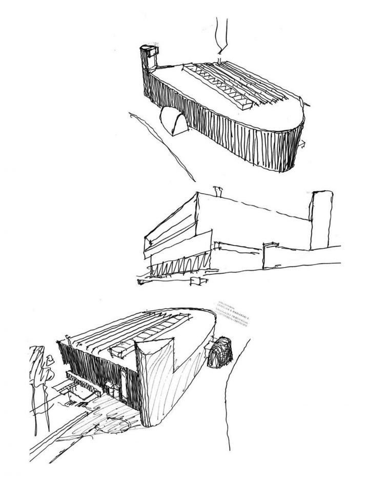 Rainer Mahlamäki's sketch, The Finnish Nature Centre Haltia
