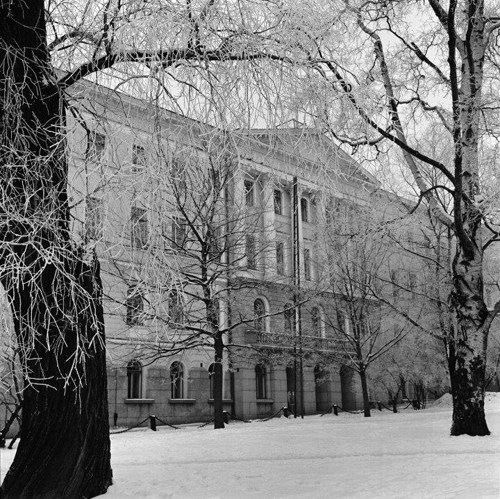 Park side facade in 1976, Senate Palace