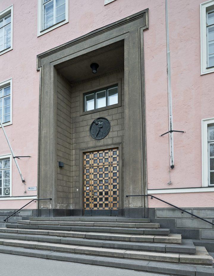 Main entrance, Helsinki Worker's Institute