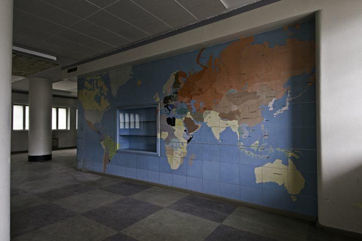 Lunch room interior, Helsinki Motorised Company Barracks