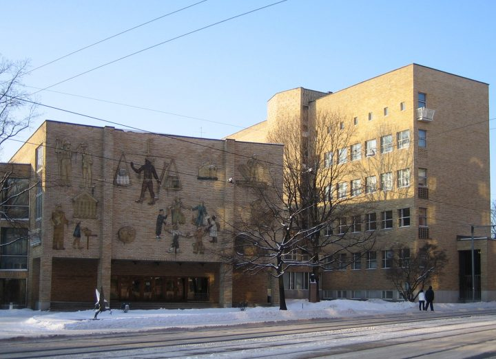 Helsinki School of Economics photographed from the opposite side of Runeberginkatu, Helsinki School of Economics