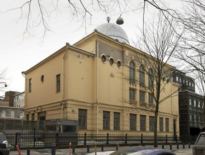 Helsinki Synagogue photographed from Malminkatu street., Helsinki Synagogue