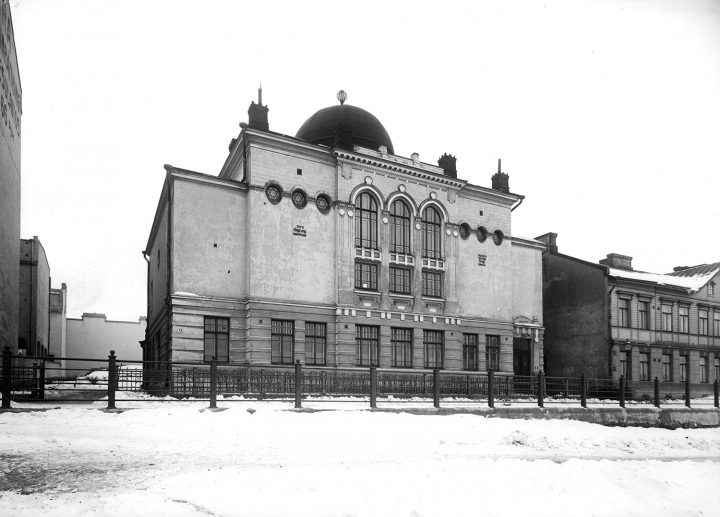Syngagogue photographed in the 1910s, Helsinki Synagogue