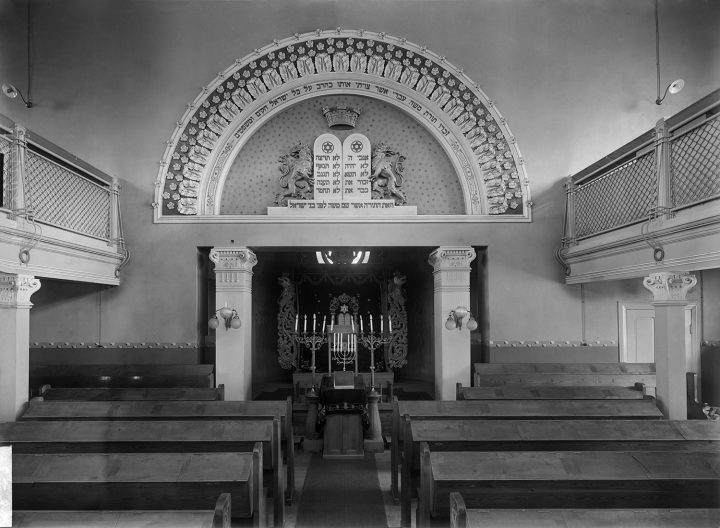 Interior photographed in the 1910s, Helsinki Synagogue