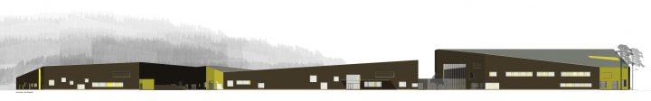 The façade plan, Huhtasuo School Campus